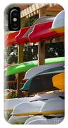 Colorful Canoes IPhone Case