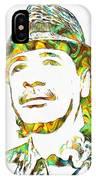Colorful Carlos Santana IPhone Case