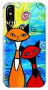 Colorful Cats IPhone Case