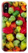 Colorful Chili Pepper IPhone Case