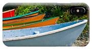 Colorful Fishing Boats On A Rocky Shore  Grand Manan IPhone Case