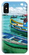 Colorful Fishing Boats IPhone Case