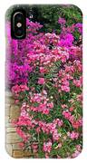 Colorful Flowering Shrubs IPhone Case
