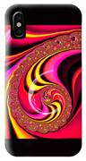 Colorful Fractal Spiral Red Yellow Pink IPhone Case