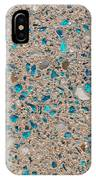 Colorful Glass Recycled For Construction Of Concrete Sidewalk IPhone Case