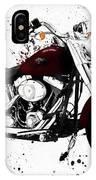 Colorful Harley Davidson Paint Splatter IPhone Case