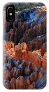 colorful hoodoos in Bryce Canyon IPhone Case