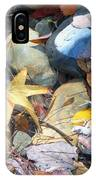 Colorful Leaves And Rocks In Creek IPhone Case