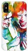 Colorful Mick And Keith IPhone Case