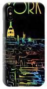 Colorful New York City Skyline IPhone Case