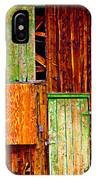 Colorful Old Barn Wood IPhone Case