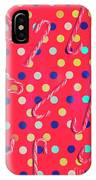 Colorful Pepermint Candy Canes IPhone X Case