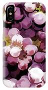 Colorful Pink Tasty Grapes In The Basket IPhone Case