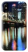 Colorful Pittsburgh Lights IPhone Case