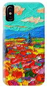 Colorful Poppies Field Abstract Landscape Impressionist Palette Knife Painting By Ana Maria Edulescu IPhone Case