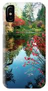 Colorful Reflection In Autumn Gardens. IPhone Case