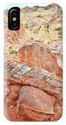 Colorful Sandstone In Wash 3 - Valley Of Fire IPhone Case