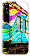 Colorful Skunk Train Passenger Car IPhone Case