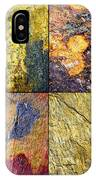 Colorful Slate Tile Abstract Composite Sq1 IPhone Case