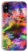 Colorful Sunset Debris  IPhone Case