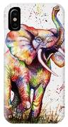 Colorful Watercolor Elephant IPhone X Case