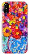 Colorful Wildflowers - Abstract Floral Art By Ana Maria Edulescu IPhone Case