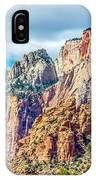 Colorful Zion Canyon National Park Utah IPhone Case