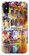 Colors Of Emotions - Palette Knife Oil Painting On Canvas By Leonid Afremov IPhone Case