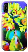 Colors, Pears And Flowers IPhone Case