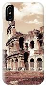 Colosseum Toned Sepia IPhone X Case