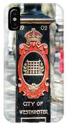 Colourful Lamp Post With The City Of Westminster Coat Of Arms London IPhone Case