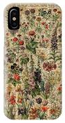 Colourful Meadow Flowers Over Vintage Dictionary Book Page  IPhone X Case