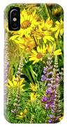 Columbia Gorge Wildflowers IPhone Case