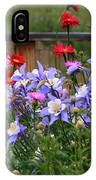 Columbines And Daisies IPhone Case