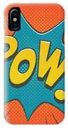 Comic Pow IPhone Case by Mitch Frey