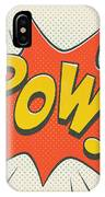 Comic Pow On Off White IPhone Case