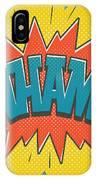 Comic Wham IPhone Case