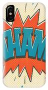 Comic Wham On White IPhone Case