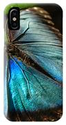 Common Morpho Blue Butterfly IPhone Case