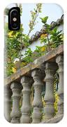 Concrete Banister And Plants IPhone Case