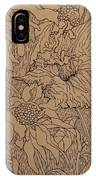Cone Flowers And Daylily IPhone Case