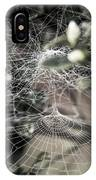 Cone Web With Dew IPhone Case
