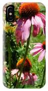 Coneflowers In Garden IPhone Case