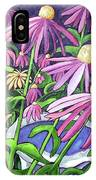 Coneflowers In Gentle Wind IPhone Case
