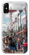 Coney Island Boardwalk II IPhone Case