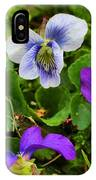 Confederate And Purple-blue Violets IPhone Case