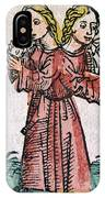 Conjoined Twins, Nuremberg Chronicle IPhone Case