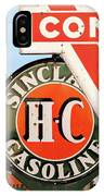 Conoco Sign 081117 IPhone Case
