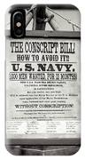 Conscript Bill  IPhone Case