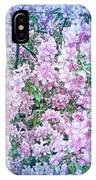 Cool Blue Apple Blossoms IPhone Case